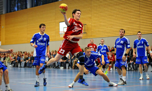 Handballspiel mit dem SV Town und Country Behringen-Sonneborn